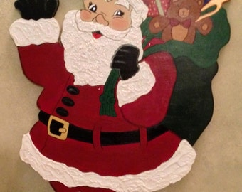 "DEBI'S DOINGS - PATTERN-Christmas Wood Craft Pattern ""Ho Ho Ho""  (32"" Tall)"