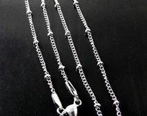 Locket Chain Upgrade / Mini Ball Station Chain / Floating Lockets