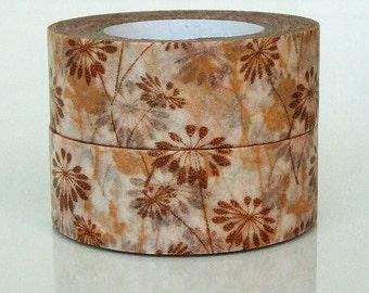 Washi Tape - Brown autumn 15mm x 8 metres WT565