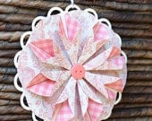 Flower Gift Tag, Decorative Flower Tag, Folded Flower Tag Decoration, Patterned Flower Gift Tags