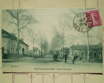 Maisons Blanches - 1932 - Vintage French Postcard