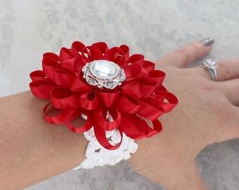 Flower Wrist Corsage, Wedding Corsage, Wedding Wrist Corsage Flowers, Flower Corsage, Flower Bracelet, Wrist Flowers, Bridesmaid Flower
