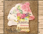 8 Shabby Rose Ribbon Cards, Thread Spools, Rose, Flower, Sweetly Scrapped, Wrap Lace, Ribbon, Twine