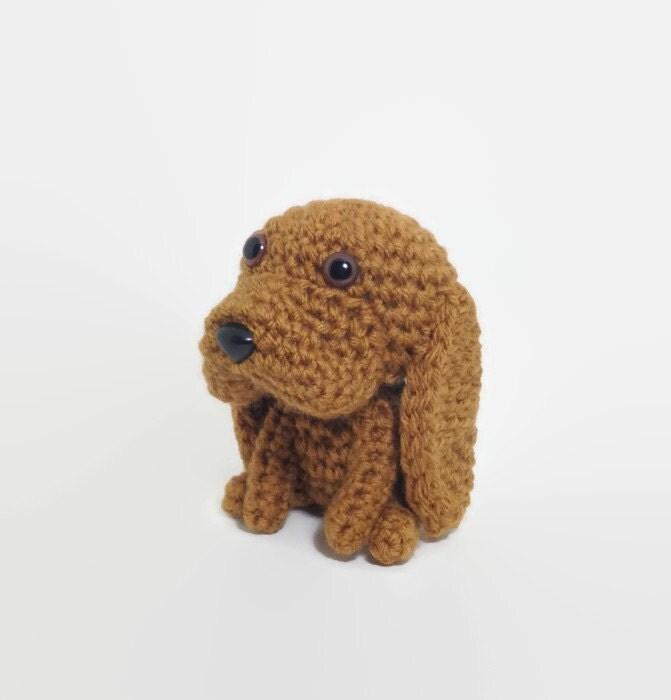 Amigurumi Big Animals : SALE / Bloodhound Amigurumi Dog Stuffed Animal Handmade