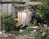 Laundry Room Art - Dubrovnik Croatia Photography - Rustic Mediterranean Decor - Pastel Color Natural Travel Photograph Laundry Print