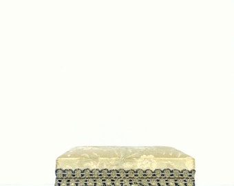SALE Vintage Jewelry Box - Footed - Elegant Home Decor
