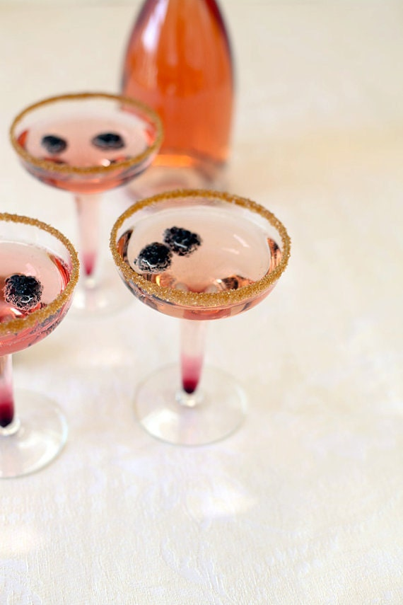 Bronze gold cocktail rim sugar - add sparkle with our Warm Gold colored martini rimming sugar - garnish for signature drink, custom drink