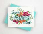Happy Mother's day card   - one card with a turquoise envelope