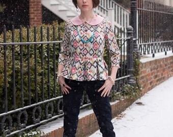 The Ladies Caroline Dress and Peplum PDF Pattern  Size 0-22