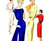 Vintage 1950s Cocktail Dress Pattern Uncut Bust 32 Size 12 Simplicity 1880