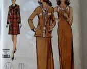 Vogue 8455 Women's 70s Petite A Line Sleeveless Dress & Long or Short Jacket Sewing Pattern Bust 32