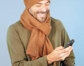 For Karen only-  Unisex Scarf - Gray Organic Cotton Hemp Fleece - Eco Friendly