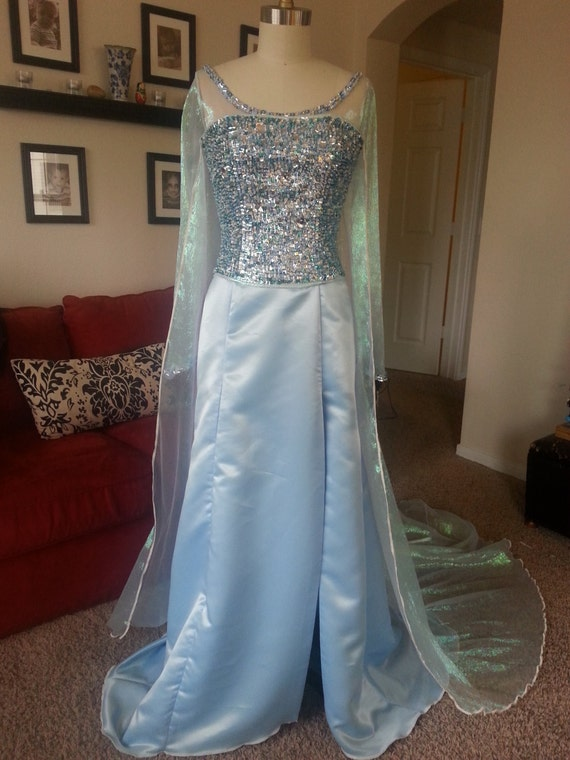 Frozen Queen Elsa Cosplay one of a kind Couture