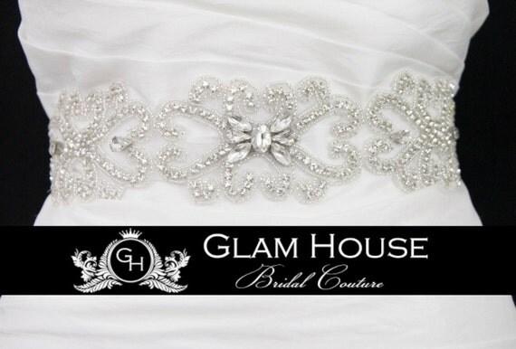 Crystal Bridal Belt,heart wedding,bridal Sash Belt,beaded belt,wedding sash rhinestone,crystal belt,sash,wedding gown belt,bridal gown sash