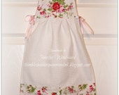 Oven Apron KITCHEN TOWEL in delicate Rosebud print