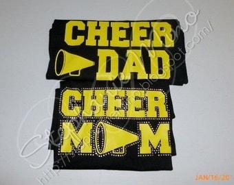 Proud Mom (w/ rhinestones) or Dad Cheer T-shirt
