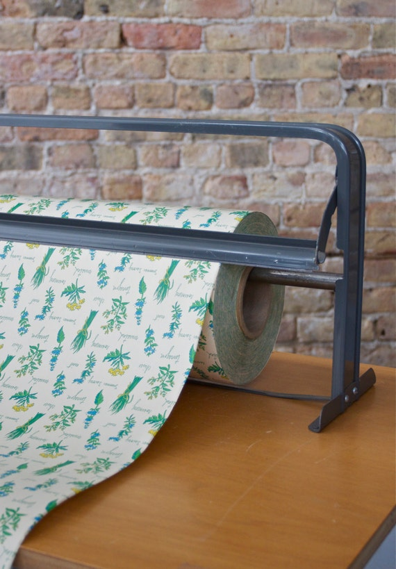 Items similar to Vintage Herb Botanical Wrapping Paper - 250+ FT ...