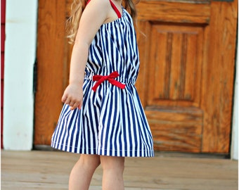 Jasmine Dress: Girls Dress Pattern, Baby & Toddler Dress Pattern, One Shoulder Dress, Sun Dress