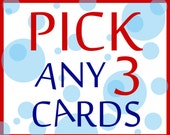 3 CARDS FOR 11 - Greeting Cards - Buyer's Choice - Pick Any 3 Cards from the Seas and Peas Shop - Funny Cards - Card Set - Greeting Card Set
