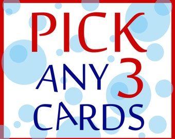 3 CARDS FOR 11 - Buyer's Choice - Pick Any 3 Cards from the Seas and Peas Shop - Funny Love Cards - Love Cards - Card Set - Stationery