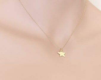Star Necklace, Gold Star Necklace, Star Jewelry, Celestial Necklace, Celestial Jewelry, Gift For Her, Birthday Gift, BeadXS, Star Pendant