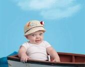 Crochet Fishing Hat, Boy Hat, Newborn Fishing Hat, Photo Prop Fishing Hat, Newborn Fishing Photo Prop, Baby Fishing Hat