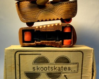 1970s vintage DISCO SKOOTSKATES PLATFORM Shoes in Good Original Box Made in Mexico Perfect for any Roller Girl