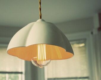 Ceramic Flower Lamp - Hanging Pendant Lamp