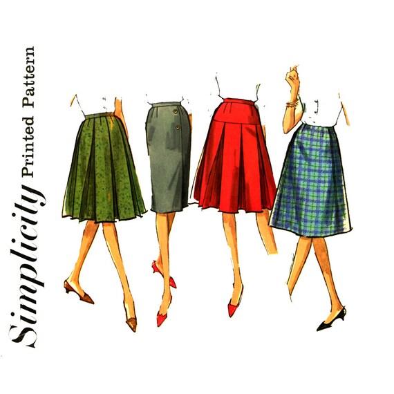 1960 s skirt pattern waist 24 simplicity 5627 flared