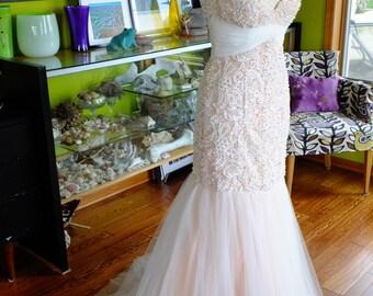 BOMBSHELL 1950s 1960s inspired beaded wedding dress marilyn monroe wedding dress