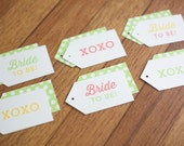 Gift Tags - Bride to Be / XOXO - 12 Pack - Bridal Shower Collection