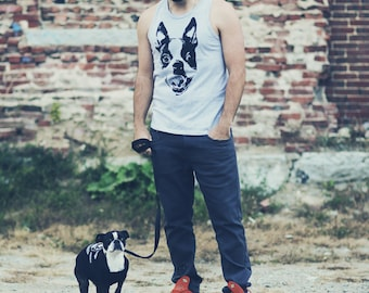 Smile Grey Tank / Available in S-M-L-XL-2XL