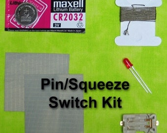 eTextile LED Pin/Squeeze Switch Kit