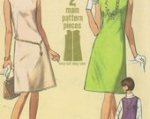 1966 Misses' Dress or Jumper Simplicity 6541 Size 16 Bust 36