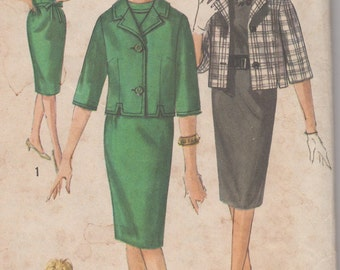 FACTORY FOLDED 1960's Junior Petite Dress and Jacket Simplicity 4146 Size 11 Bust 33