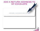 Return Address - Print my Envelopes - Add a Return Address on the Envelope Flap