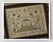 Sampler Hill : Country Stitches With Thy Needle counted cross stitch patterns prim hand embroidery