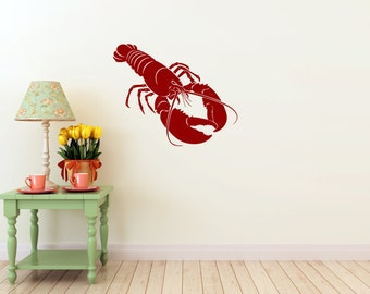 Lobster Wall vinyl DECAL- fish ocean sea Animal, sticker art, room, home and business decor