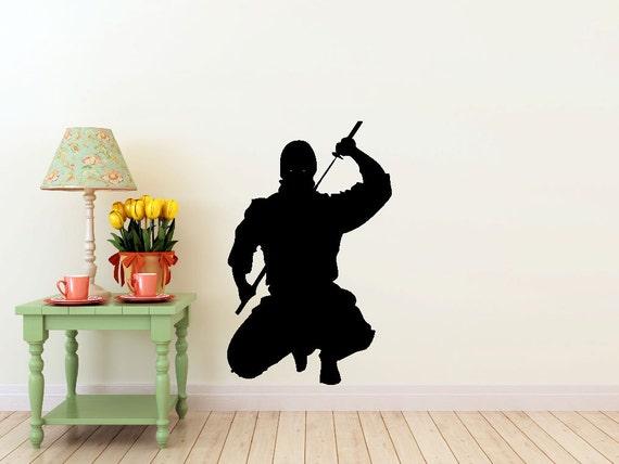 Ninja vinyl Wall DECAL- japan interior design, sticker art, room, home and business decor
