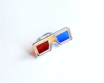 Logan 3D-glasses Ring, perspex and acrylic rings