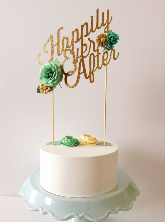 Modern Blooms Cake Topper