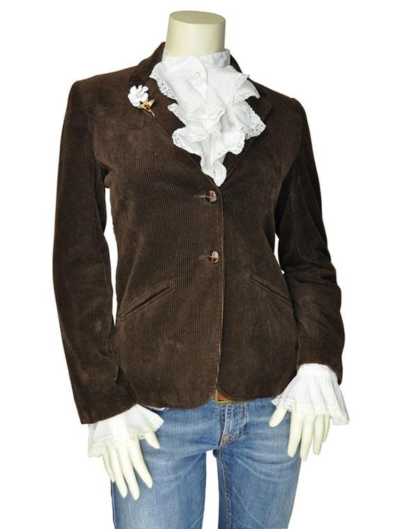 Women's Size 6 / Medium Dark Brown Corduroy Preppy Blazer