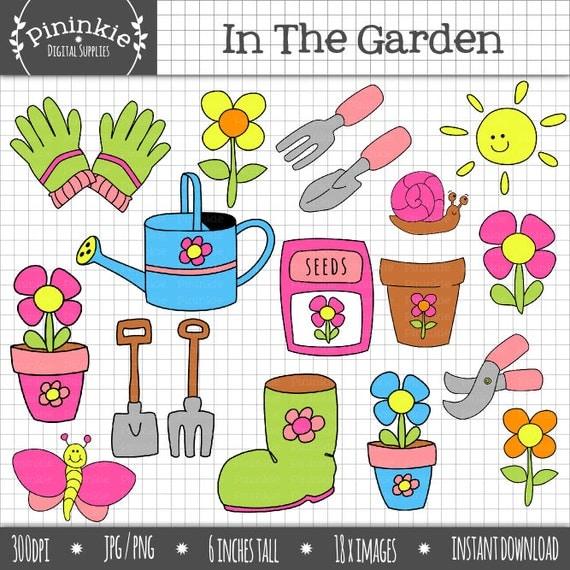 Flower Clip Art Digital ClipArt Garden ClipArt Gardening