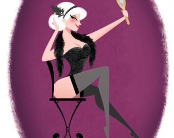 Pin Up Girl Art Print - Blonde