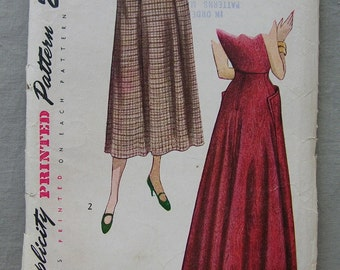 Fabulous Vintage 40's Misses' Skirt Pattern DAYTIME And EVENING LENGTHS