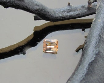 Radiant Cut Peach Color Imperial Topaz, Loose Gemstone for Custom Fine Jewelry