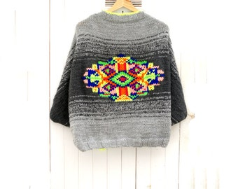 Hand Knitted Ethnic Jacket