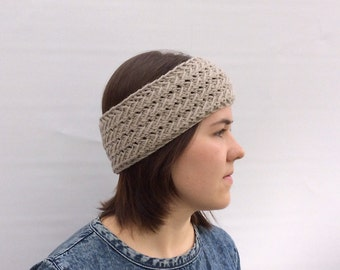 Wool Headband for Women, Ear Warmer, Beige Headband, Gift for Her, Girlfriend Gift, Winter Accessories