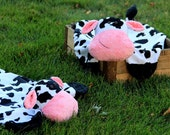 Made to Order - Soft and Snug-able Cow Animal Blanket