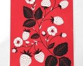 Strawberries Screen Print